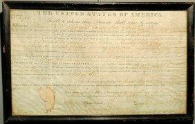 18: Parchment U.S. General Land Office certificate dat