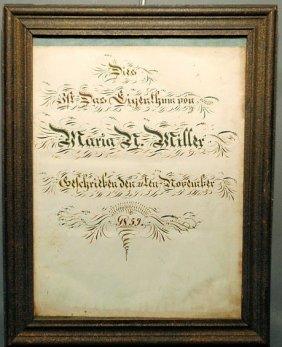 20: German birth certificate for Maria N. Miller, Nove