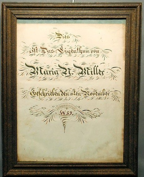 20: German birth certificate for Maria N. Miller, Nove