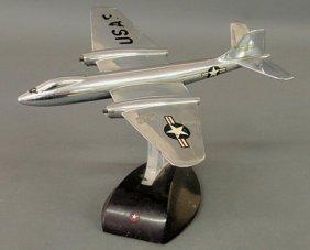 "27: Chrome B57 jet model ""Glenn L. Martin Co."" with US"