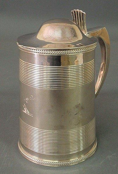 284: William Bateman silver can or tankard with armoria