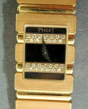 """530: Ladies Piaget """"Polo"""" wristwatch with a square styl"""