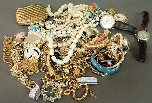 26: Large group of costume jewelry.