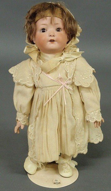 106: German Heubach bisque head doll, early 19th c. 13