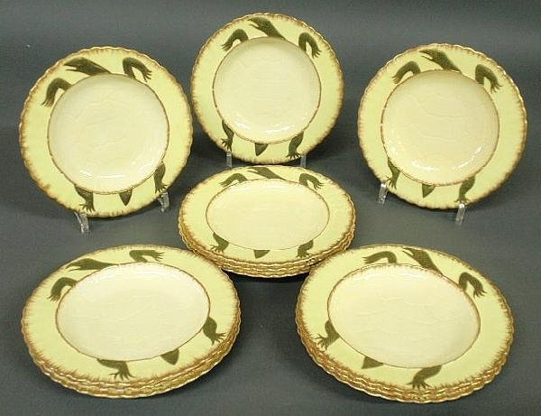 109: Set of 12 terrapin soup plates by Moore (Bros.)