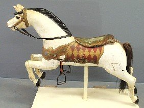 Early Carousel Horse, Late 19th C., With Glass Eye