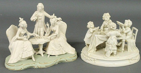 132: German porcelain figural group by A.W. Fr. Kister