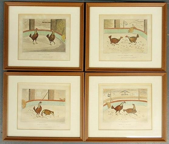 145: Set of four sporting prints pub. By W.C. Lee, Lond