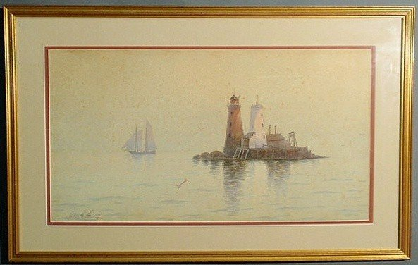 147: Essig, George Emerick [American, 1838-1926] waterc