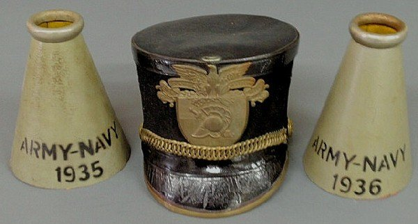 148: West Point Military Academy cadet shako, brass and