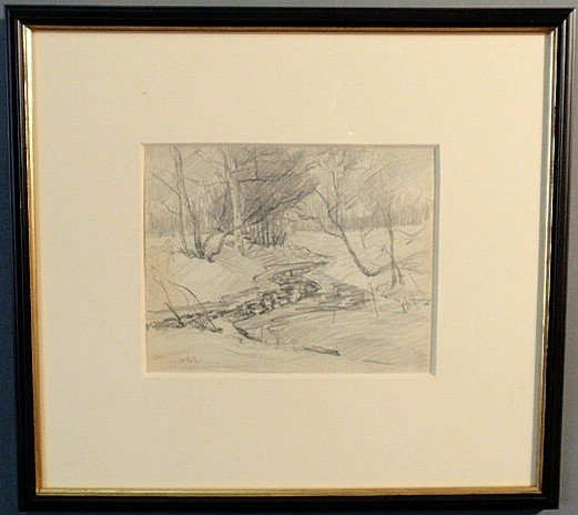 29: Baum, Walter Emerson [American, 1884-1956] pencil