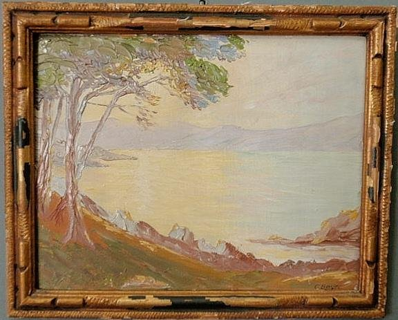 "33: Small oil on board painting signed l.r. ""G. Boyer"""