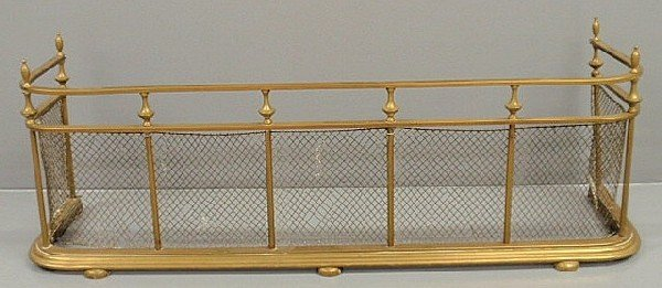 "37: Brass wire Federal style fire screen. 17.5""h.x49""w"