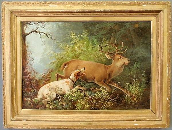 57: Tait, Arthur Fitzwilliam [American, 1819-1905] oil