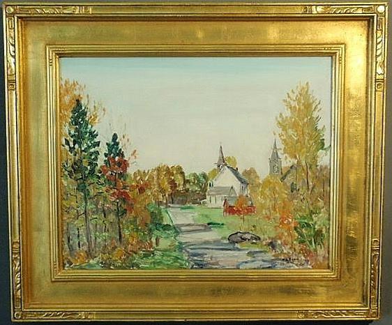 137: Baum, Walter Emerson [American, 1884-1956] oil on