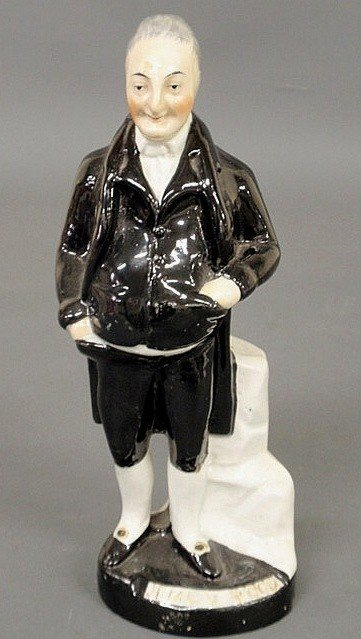 254: Staffordshire figure of Jemmy Wood, 19th c., stand