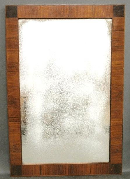 265: Continental mahogany beveled glass mirror, early 2