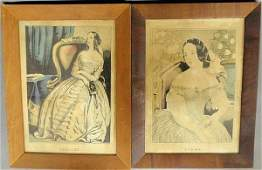 549 Pair of N Currier lithograph portraits of Clara a