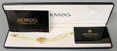 Ladies Movado wristwatch with a 14k gold case and