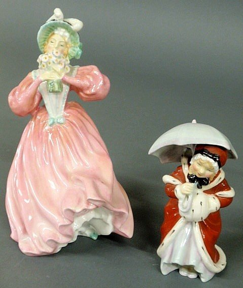 """6: Two Royal Doulton figures- """"Marguerite"""" 8""""h. and """""""