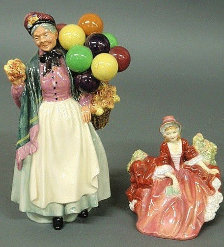 "8: Two Royal Doulton figures- ""Biddy Pennyfarthing"" 9"