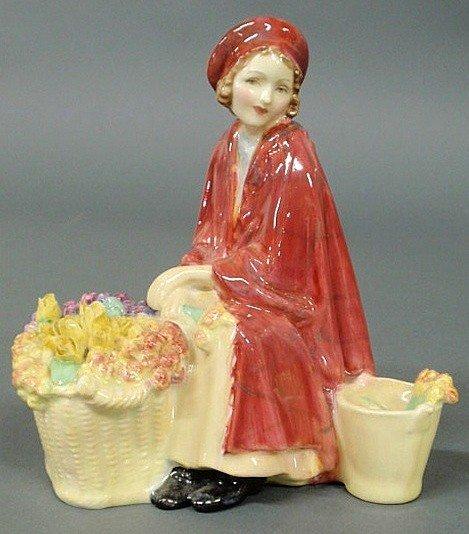 """13: Rare Royal Doulton figure """"Bonnie Lassie"""", a retir"""