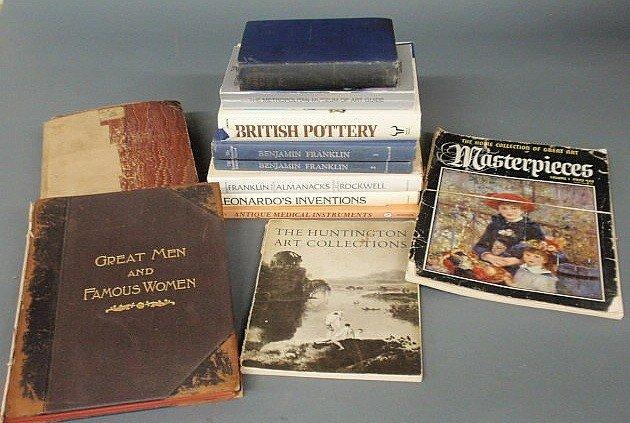 18: Twelve books- Benjamin Franklin, British Pottery,