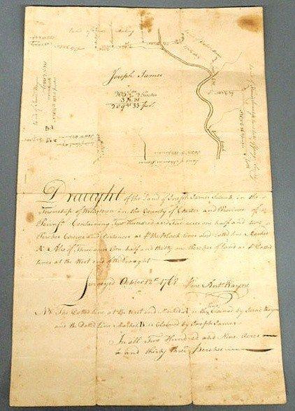 250: Rare land survey drawn and signed by Anthony Wayne