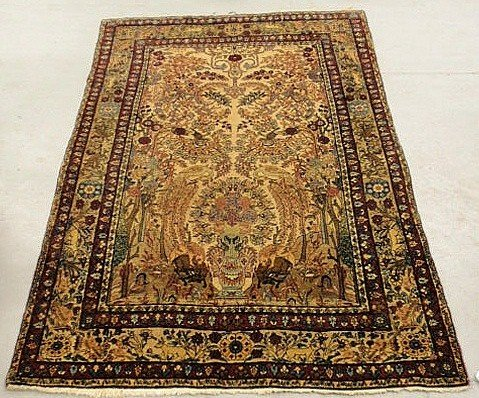 1: Finely woven oriental directional garden carpet with
