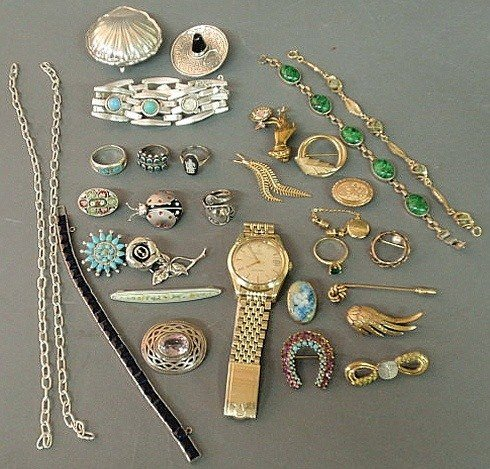 13: Group of jewelry to include a men's Omega watch, s