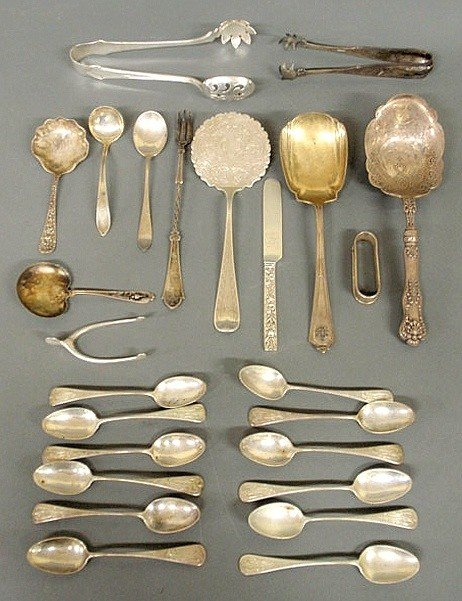 86: Misc. group of sterling silver flatware, various m