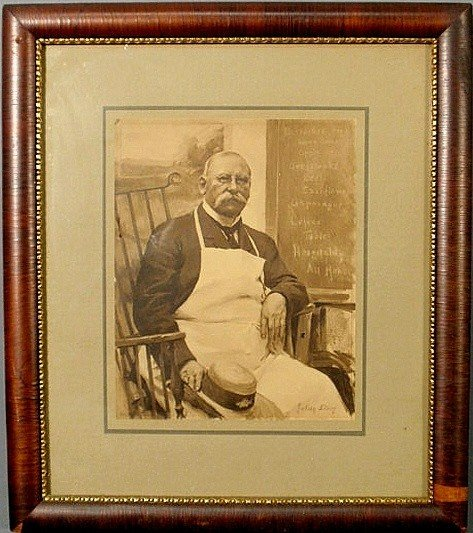 90: Framed print of a portrait of William Fisher Lewis