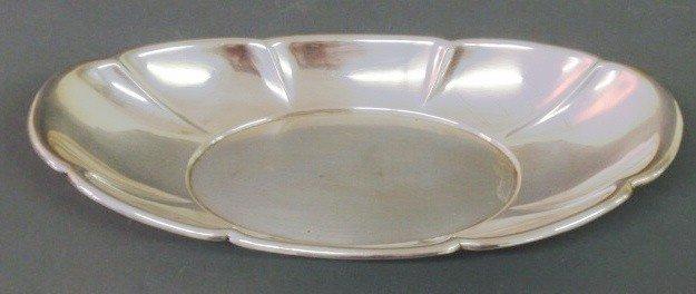 "16: Sterling silver bread tray by Gorham. 1.5""h.x12""w"
