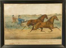 """70: Currier & Ives """"The Celebrated Trotting Stallions"""
