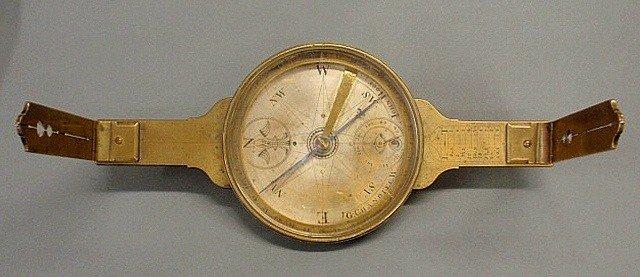 200: Rare and important John Hooe Surveyor's Compass b