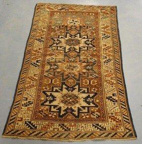 2: Oriental hall mat with overall geometric medallio