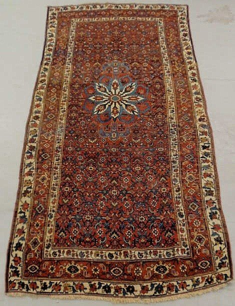 3: Colorful Persian oriental center hall carpet, ivo