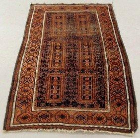 7B: Bokhara oriental center hall carpet, red field wi