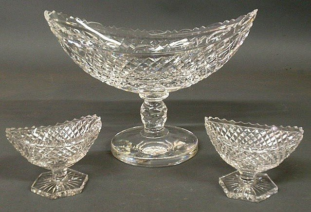 "12: Signed Waterford cut crystal centerpiece vase 9""h"