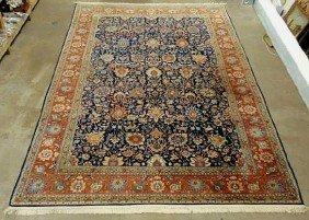 7C: Palace size Persian oriental carpet, blue center fi