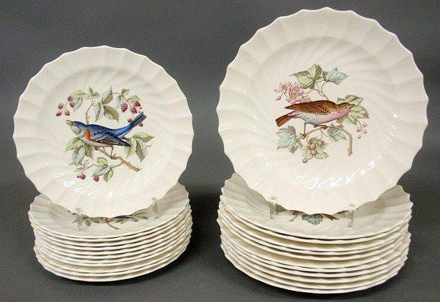 10: Copeland Spode bird plates to include 12 dinner p