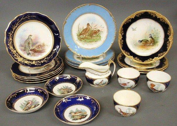16: Five Cauldon, England plates, late 19thc., with h