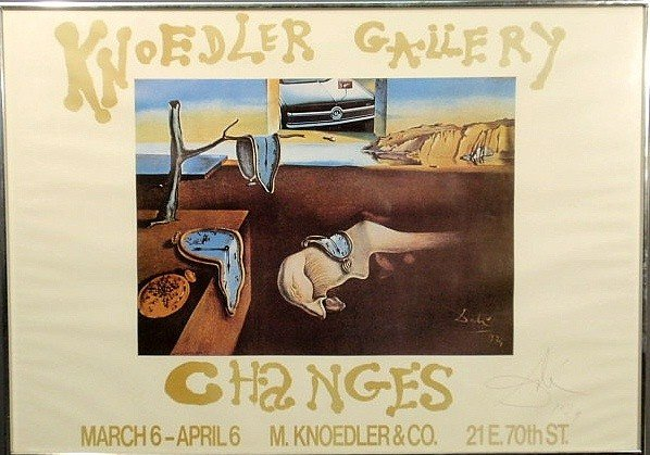 20: Signed Salvador Dali poster for the Knoedler Gall