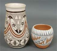 173: Two pieces of Southwest Indian pottery- vase 9.25