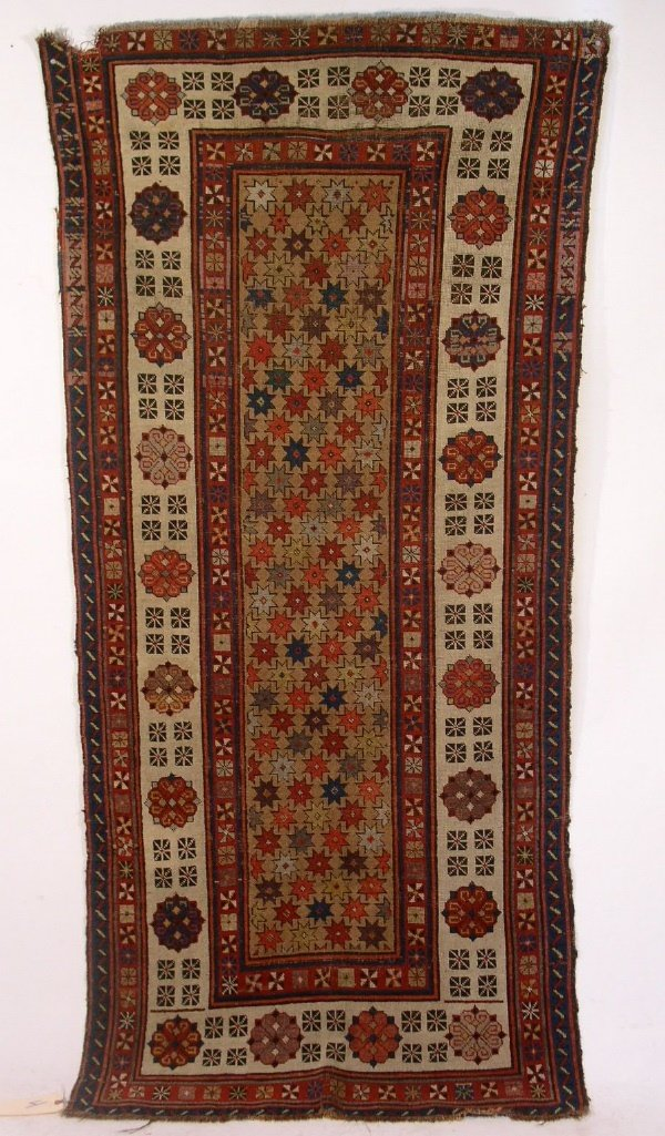 4: Colorful Caucasian oriental runner with center star