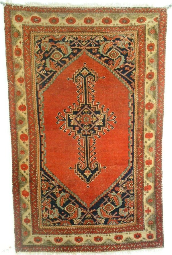 18: Unusual pair of Turkish hall carpets each with red