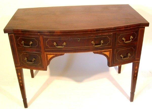 47: Hepplewhite style inlaid mahogany side server with