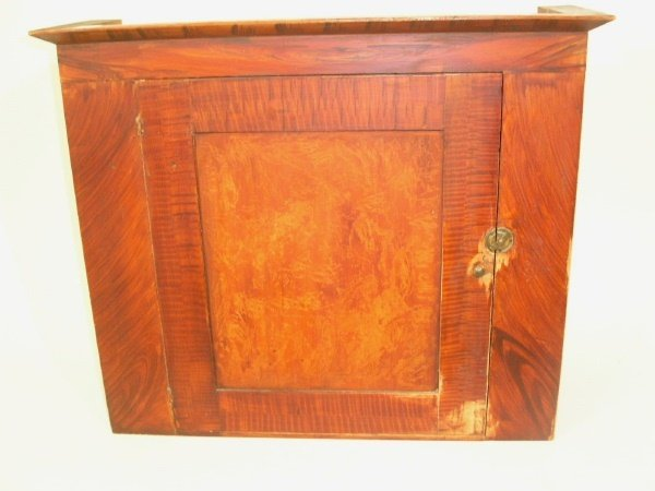 183: Red figural grain painted hanging cabinet, 19th c.