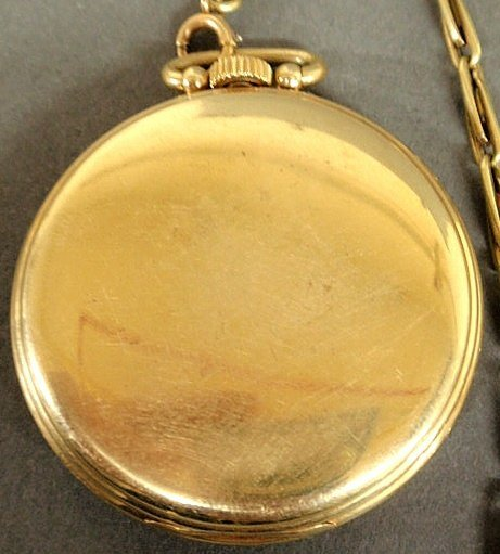 23: Hamilton 14k y.g. open-face pocket watch with a g - 2