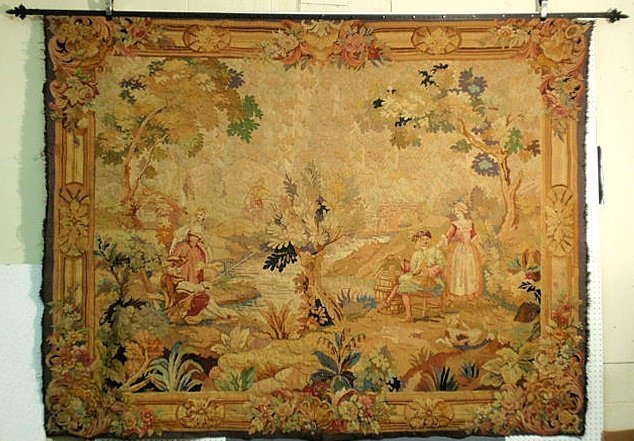 112: Large colorful Continental tapestry, 18th/19th c.